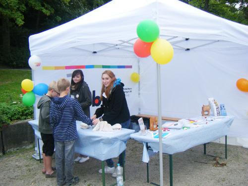 Stand von Pro Mobil beim Stadtteilfest Birth/Losenburg 2011