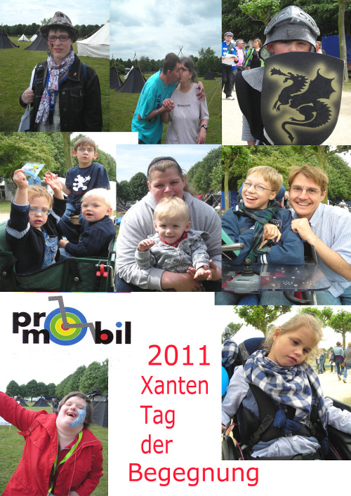 Bildcollage Impressionen des Tags der Begegnung in Xanten 2011