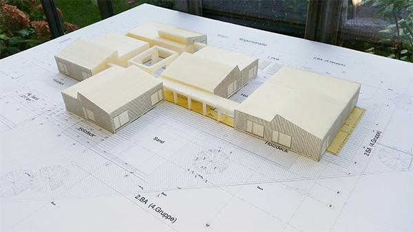 Architekturmodell zur Erweiterung der Kindertagesstätte Kleine Robbeninsel in Heiligenhaus