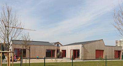 Gesamtansicht außen Pro Mobil inklusive Kindertagesstätte Kleine Robbeninsel Velbert