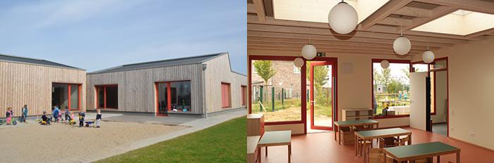 Außen- und Innenansicht Pro Mobil Kindertagesstätte Velbert