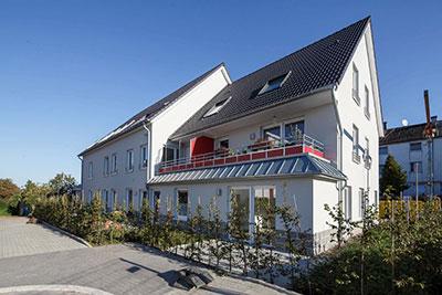 Gebäude des Wohnprojekts Pfeilstraße von Pro Mobil in Velbert